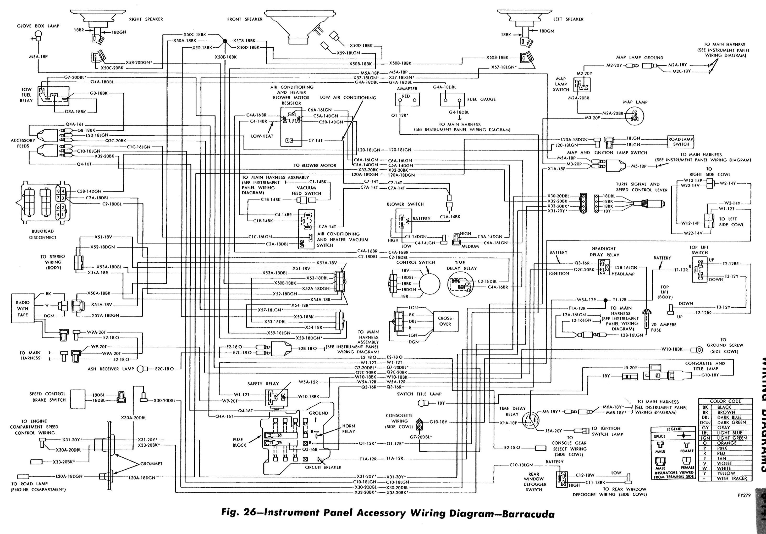 1972 cuda wiper diagram wiring schematic