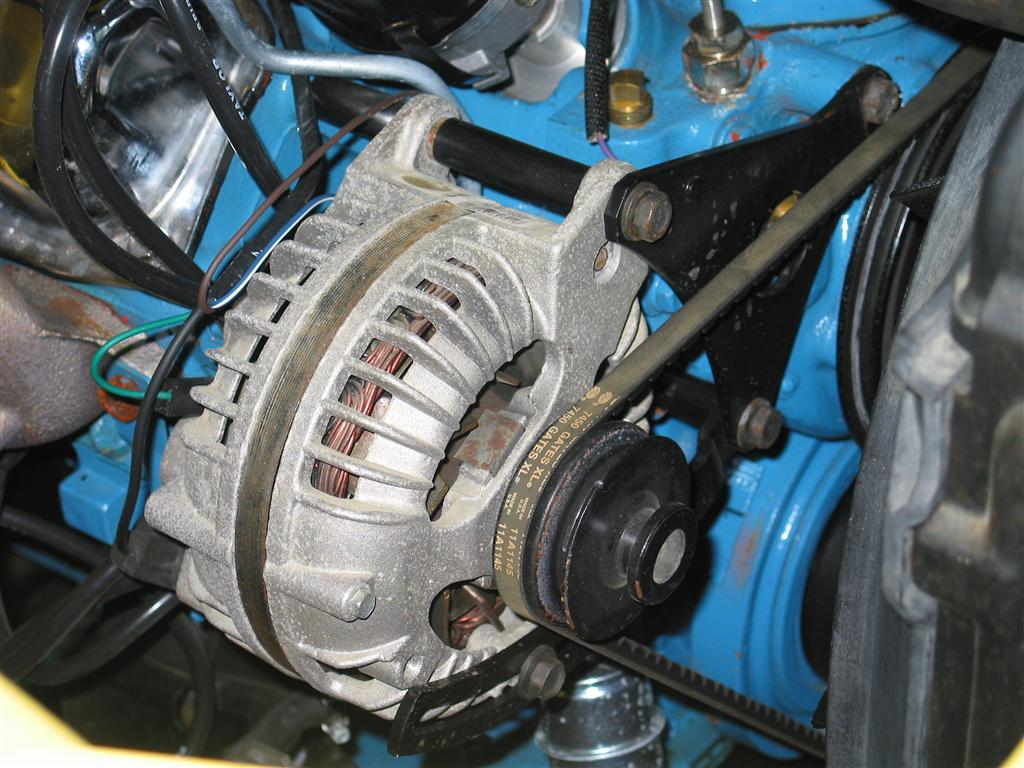 Alternator Mount Spacing Spacers And Washers Rb 440 on 1978 dodge power wagon