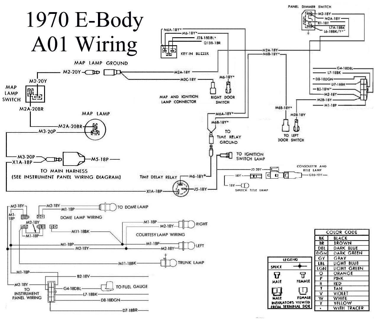 Need Photo 70 E Body Backside Of Dash Please Moparts Restoration M880 Wiring Diagram 5008091 Maplightwiringdash2