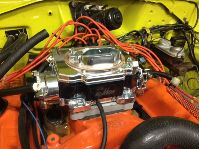 Street Demon Air Cleaner : Street demon carb stock air filter fit moparts