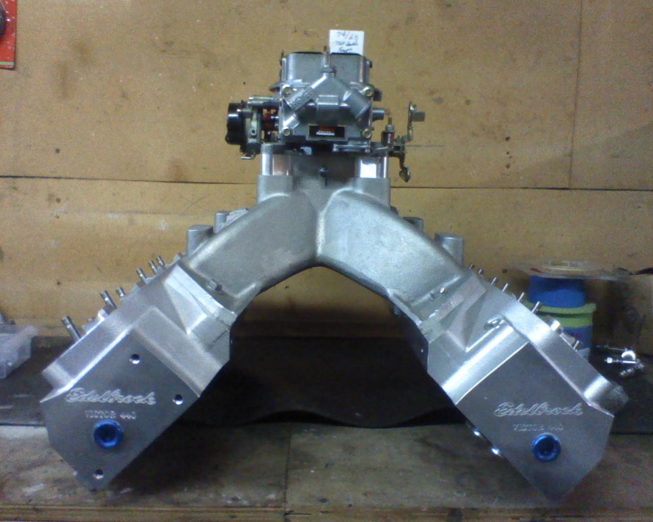 Low deck intake options for edelbrock victor heads