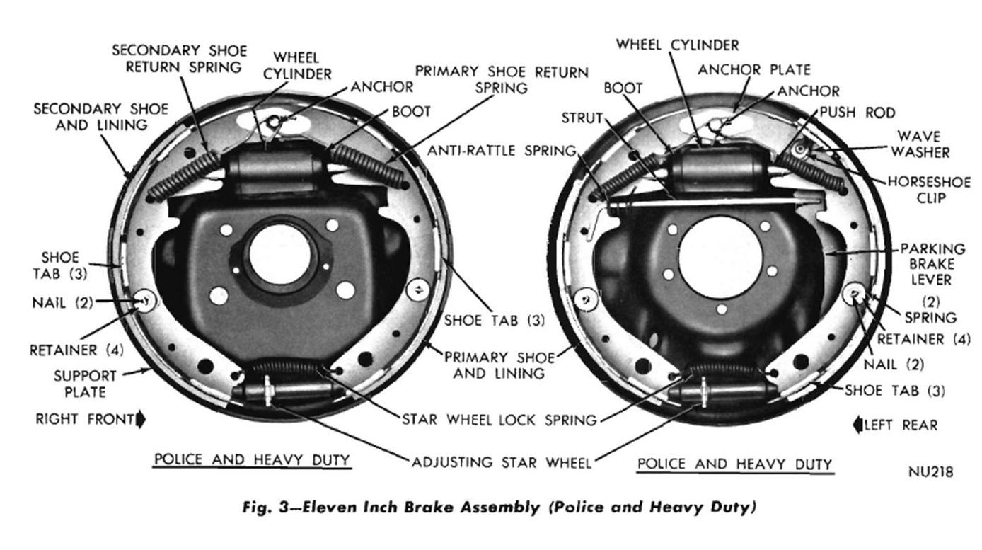 1969 dodge dart rear brake assembly diagram