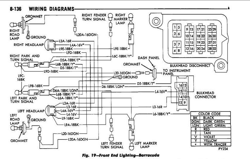 1970 cuda road lamp wiring diagram moparts restoration a12 forum moparts forums