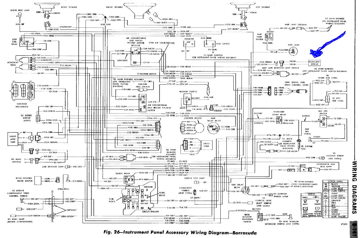 roadlampswitch 1970 cuda road lamp wiring diagram moparts restoration & a12 70 cuda wiring diagram at fashall.co
