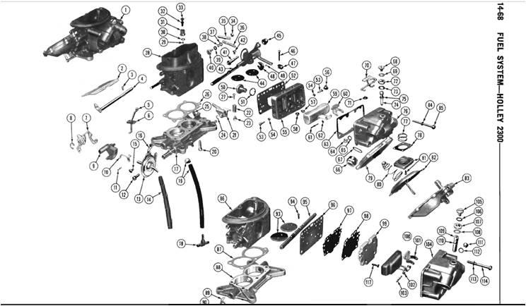 p4529061 six pack carb linkage kit