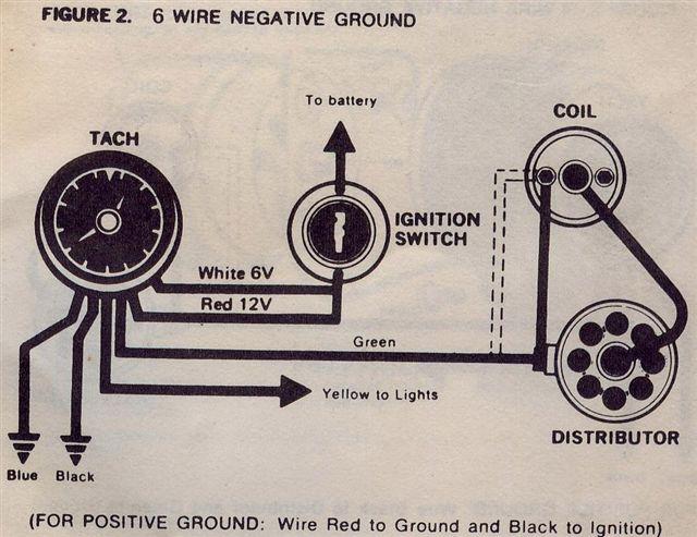 vintage aftermarket tach wiring - moparts forums gl1100 tachometer wiring diagram