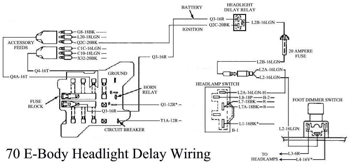 Picture Of 70 Headlight Delay Wiring Harness Needed