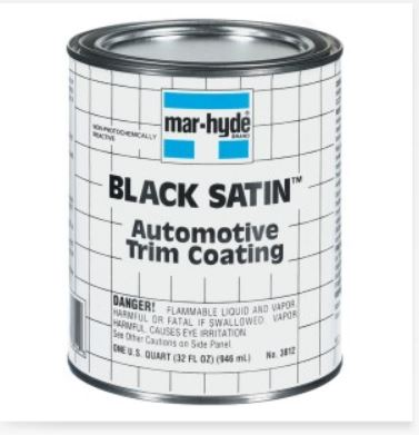 Correct 1969 1972 Hood Matte Flat Black Paint Where To
