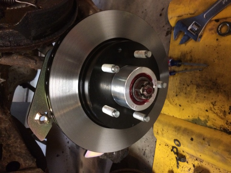 Plaza brake disc installed.jpg