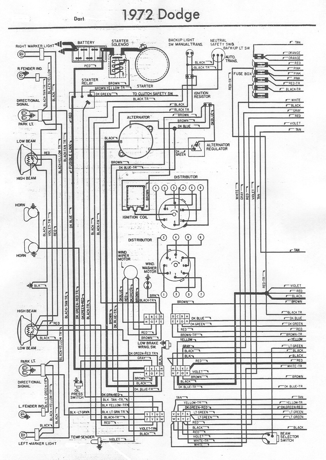 5793250 72DartA 72 swing horn ingniton wiring problem moparts restoration & a12 1972 dodge dart swinger wiring diagram at creativeand.co