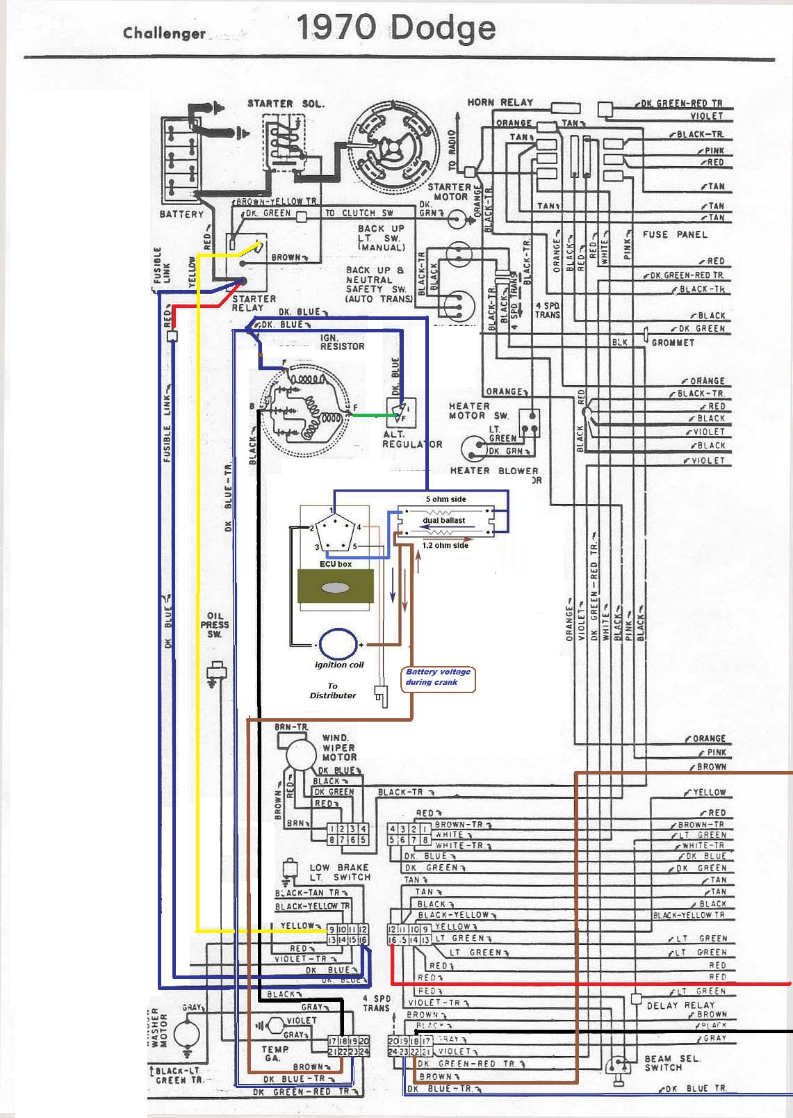 1970 Cuda Ignition Wiring Diagram Fuse Box Plymouth Duster 70 Challenger Automotive U2022 Rh Nfluencer Co Chevy Truck 1969 Road Runner
