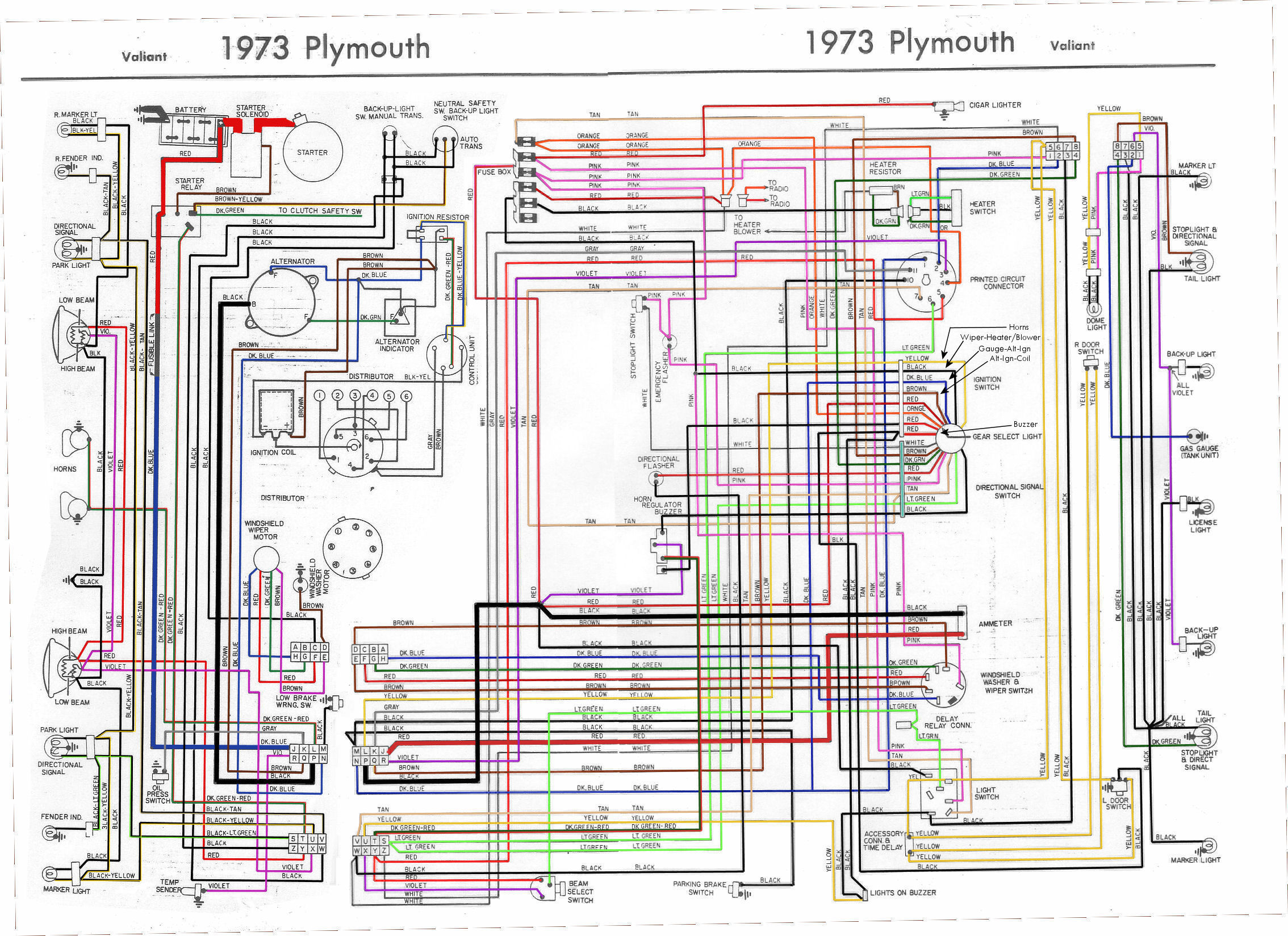 1973 plymouth duster wiring diagram 1973 free engine image for user manual